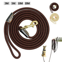 Long Dog Training Leads Strong Rope Pet Tracking Line Leash 10ft 16ft 33ft 66ft