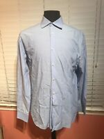 John Varvatos USA Blue Slim Fit 16 34/35 Cotton Dress Shirt