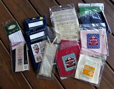 Grab bag of miscellaneous Aida fabric for counted cross stitch, bookmarks New