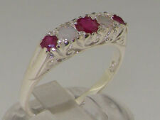 Band Ruby Sterling Silver Fine Rings