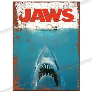 JAWS MOVIE FILM Retro Tin Metal Sign Man Cave Garage Bar Pub Vintage Plaque Shed