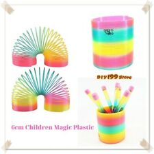 Huge Slinky Jumbo Rainbow Magic Coil Spring Bounces Kids Toy Christmas Gifts NEW
