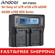 Andoer NP-FW50 Camera Battery Charger for SONY a7 a7R a7sII a7II a6500 NEX S7C7