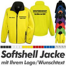 SOFTSHELL JACKE gelb-schwarz, inkl. Ihrem Wunschdruck Logo Druck Werbedruck