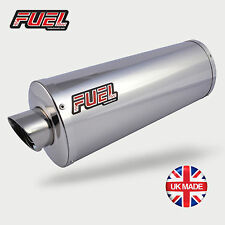Honda CBF600 04-07 Slash Polished Stainless Oval MicroMini UK Road Legal Exhaust