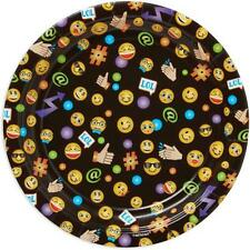 Emoji LOL Dessert Cake Plates by Amscan 8 Count Birthday Party Supplies New
