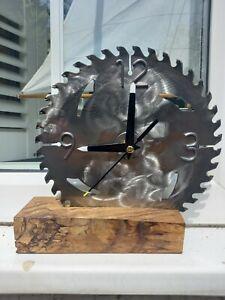 Handmade Saw Clock.Industrial.Steampunk.