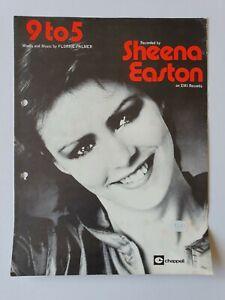 9 TO 5 - Sheena Easton - Sheet Music - 1981