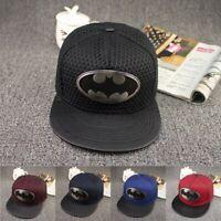 New Fashion Summer Brand Batman Baseball Cap Hat For Men Women Casual Hip Hop