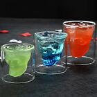Double Layer Wine Mug Cocktail Cup Skull Goblet 1PC Bar Travel Christmas Mugs