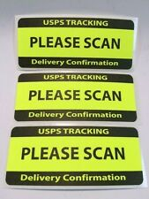USPS TRACKING DELIVERY CONFIRMATION PLEASE SCAN Labels/Stickers 25 1.25 x 3  NEW