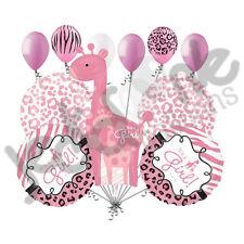 11pc Sweet Safari Baby Girl Giraffe Balloon Decoration Party Shower Welcome Home