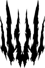 """CLAW RIPPED OTHER Vinyl Decal Sticker-6"""" Tall White Color"""