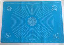 Rollmatte Silikon 50 x 40 cmFondant Backmatte Tortendekoration Ausstecher blau