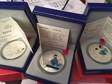 3 pièces 1,5 euros argent monnaie de Paris Tintin 2007