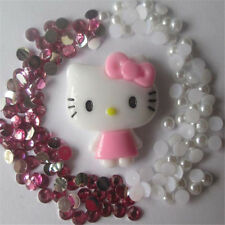 W107 Hello Kitty 3D DIY Mobile Cell Phone Case Crystal Deco Den Kit