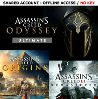 Assassin's Creed Odyssey Ultimate & Origins Gold PC Region-Free OFFLINE Account