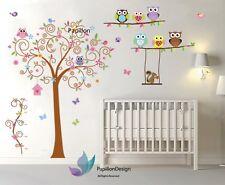 Owl/SwingTree/Flower/Butterfly squirrel Nursery baby Unisex wall sticker Decal