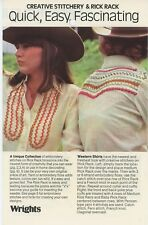 Wrights 1975 Creative Stitchery and Rick Rack 6 Page Fold Out Brochure C-1
