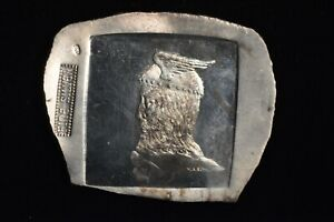 H. Alvin Sharpe .999 Fine Silver Art Bar 131 Grams, 4.22 Troy Ounces