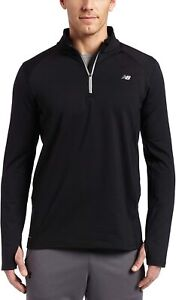NWT!! MEN'S NEW BALANCE COMPETITOR  1/2 ZIP JACKET  MRT0317 - BLACK - SIZE SMALL