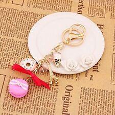 Bag Decoration Rhinestone Keyring Key Holder Cake Macarons Toy Key Chains