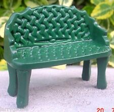 Wrought Iron Garden Bench Green Miniature 1/24 Scale Diorama Accessory Item