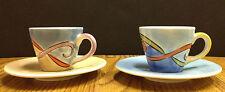 Espresso Cups Pair of 2 Hand Painted Herman Dodge & Son Decorative Ceramic