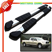 """For 07-16 Toyota Tundra Double Cab Aluminum 5"""" Oval Nerf Bars Side Step OE Style"""