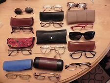 LOT of 13 eye glasses & sunglasses with cases some vintage marchon magnivision +