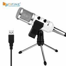 Fifine USB Microphone, Plug & Play Condenser Microphone For PC/Computer Podcasti