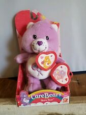"RETIRED MIB Valentines Care Bears Share Bear 7"" Plush w/ Locket Target Exclusive"