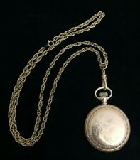 Vintage American Waltham Full Hunter Pocket Watch with Chain! Still Running!