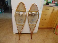 ANTIQUE    INDIAN  snowshoeS       11  x  36      nice   /#  2072