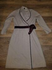 Vintage gray wrap snap coat dress wit burgundy belt by Kiva Ltd Saks Fifth Ave