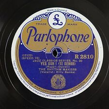 78rpm BILLY BANKS & THE RHYTHM MAKERS yes suh / yellow dog blues