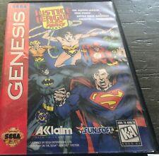 Justice League: Task Force Game for Sega Genesis - Game & Box