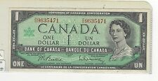 **1967** Canada $1 Note, Beattie/Rasminsky BC-45b, Ser# R/O 9635471