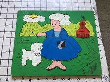 Vintage frame tray puzzle -- PLAYSKOOL -- MARY HAD A LITTLE LAMB 15pieces