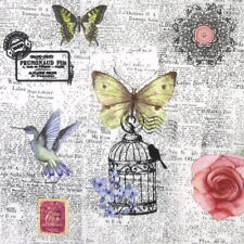 4x Paper Napkins - Colorful News - for Party, Decoupage Craft
