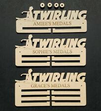 Twirling Medal Holder Display Hanger Personalised 6mm MDF Free Post