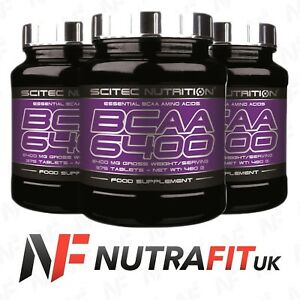 SCITEC NUTRITION BCAA 6400 branched chain amino acids tablets
