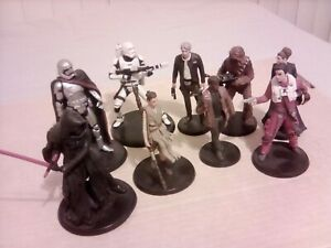 Disney Star Wars The Force Awakens 10 Deluxe Figurine Play Set Figures Loose