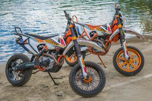 KTM EXC EXC-F SX-F 250 300 350 450 500 -FULL SET FORK PROTECTION- Forkshrink 360