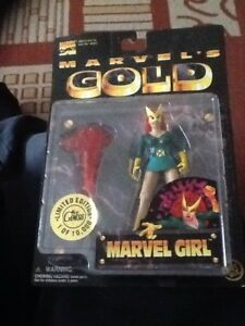 Toy Biz Marvel's Gold Collectors Edition Figure Marvel Girl