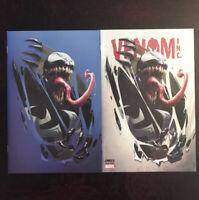 VENOM INC: OMEGA #1 (2018)ComicXposure CLAYTON CRAIN REG & VIRGIN VARIANT LOT NM