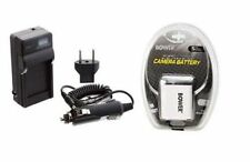 Battery + Charger for Casio EX-Z80BK EX-Z80GN EX-Z80VP EXS10RD EXS10SR EXZ80GN