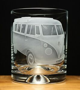 Camper Van VW Split Screen Splitty engraved glass tumbler gift