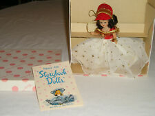 Vtg New Nancy Ann Storybook Doll January Merry Maid For New Year #187 wBox Tags