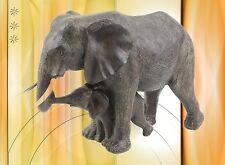 Elefanten Skulptur Gruppe Mutter+Kind Souvenier Afrika schöner Wohnen im zu Haus